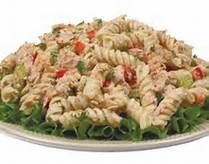 Can't believe I finally conquered the right mixture for this, tastes just like Souper Salads!!  Here are the ingredients.Tuna Skroodle Pasta Salad  Ingredients: tuna, rotini pasta, celery, bell peppers, onions, parsley, garlic, dill, sour cream, mayonnaise, lemon juice