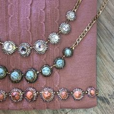 OJDC Statement Necklace Beautiful necklaces to wear for this season and beyond. Ocean Jewelers Jewelry