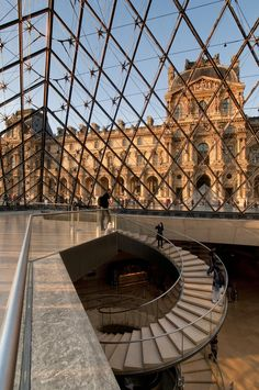 View of the Louvre Museum from the Pyramid, Paris