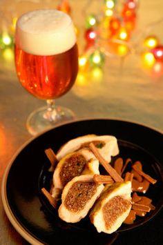 Filets de pintade farcis au pain d'épices, jus gourmand à la Bière de Noël : la recette facile