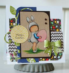 Patterned Paper - Papercrafts by Inge: February MFTeasers, PI Bunny Ears and Cute As A Button