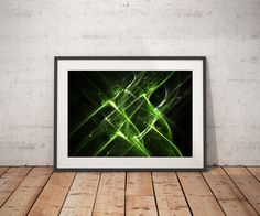 A Green Aura Abstract Art by Abstract Geek, $18.99 USD