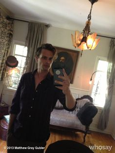 "Matthew Gray Gubler's photo ""wig-less""  on @Jose Quilisadio sweet jesus he's hot."