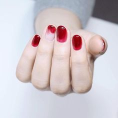 nails gel 76 jelly nails trends ideas to inspired soul page 00070 nails short Fancy Nails, Red Nails, Cute Nails, Pretty Nails, Hair And Nails, Kawaii Nails, Jelly Nails, Minimalist Nails, Manicure E Pedicure