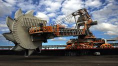 Coal terminal. The coal loader at Newcastle Coal Infrastructure Group's new .coal terminal on Kooragang Island, Newcastle. Picture: Liam Driver   Source: The Daily Telegraph..    theaustralian.com.au