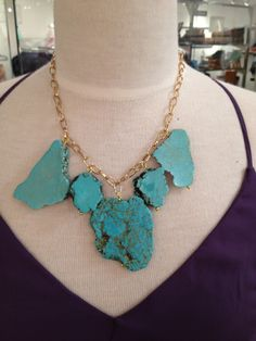 TrendsWeLove - Turquoise Stone Necklace, $32.00 (http://www.trendswelove.com/turquoise-stone-necklace/)