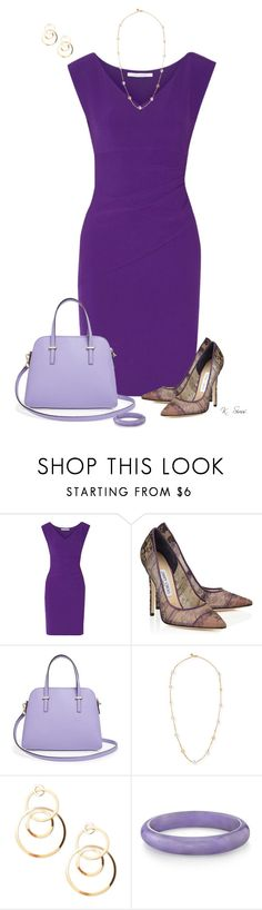 """""""Purple"""" by ksims-1 ❤ liked on Polyvore featuring Diane Von Furstenberg, Jimmy Choo, Kate Spade, Tory Burch and Forever 21"""