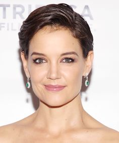 The Best Party Hairstyles to Wear this Holiday Season - Kate Holmes's Slicked-Back Pixie from InStyle.com