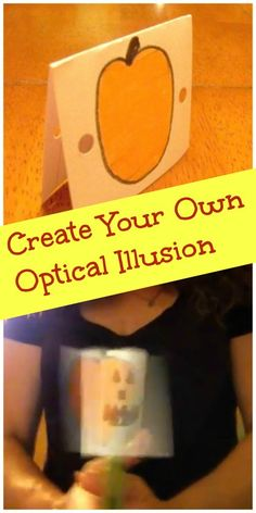 Optical Illusions: Fun Science Activities for Kids Quick & easy science experiment for kids — make the jack o' lantern face show up on the pumpkin. Details about the science behind the 'trick' included! Easy Science Experiments, Science Activities For Kids, Stem Science, Preschool Science, Science Fair, Stem Activities, Science Ideas, Learning Activities, Teaching Ideas