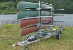 C8 Canoe/Kayak Tailer | Bike & Canoe Trailers | Bespoke | N & J Aluminium Linings Ltd Kayak Bike Trailer, Kayaking Gear, Canoeing, Trailers, Towing Vehicle, Steel Beams, Light Beam, Canoe And Kayak, Bespoke