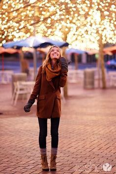 SO excited for fall. Boots, scarves & lights!