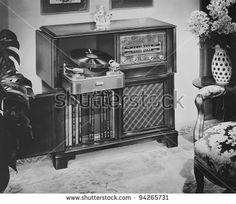 Philco Radio phonograph with AM and FM radio and turntable, 1951