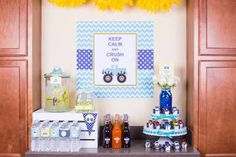 Colorful Monster Truck themed birthday party via Kara's Party Ideas KarasPartyIdeas.com #monstertruckparty #monstertrucks Printables, invitation, cake, decor, and more! (25)