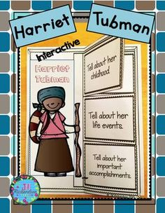 This product includes two ways for your children to share what they have learned about Harriet Tubman in writing using interactive writing  and fast fact printables.Have your children research Harriet Tubman.  Harriet Tubman Interactive Writing Printable