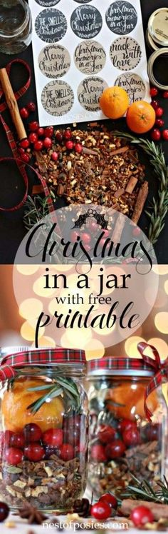 Homemade DIY Gifts in A Jar   Best Mason Jar Cookie Mixes and Recipes, Alcohol Mixers   Fun Gift Ideas for Men, Women, Teens, Kids, Teacher, Mom. Christmas, Holiday, Birthday and Easy Last Minute Gifts   Christmas in a Jar    http://diyjoy.com/diy-gifts-in-a-jar