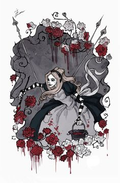 Painting The Roses Red by IrenHorrors on deviantART