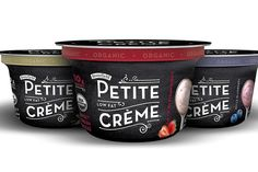 """Organic dairy Stonyfield believes its newly developed Petite Crème sweet fresh cheese range will appeal to US consumers that find Greek yogurt """"too thick and bitter. Healthy Store Bought Snacks, Fromage Aop, Packaging World, Packaging Design, Dairy Packaging, Yogurt Packaging, Yogurt Brands, Organic Yogurt, Greek Yoghurt"""