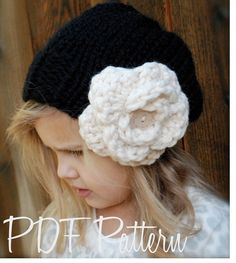 Knitting PATTERN-The Dahlia Slouchy (Toddler, Child, and Adult sizes)