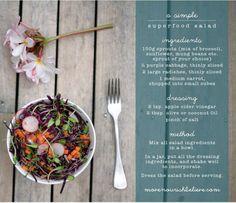 Simple Superfood Salad Move Nourish Believe
