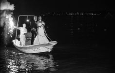 #groom & #bride arrival with boat in the #wedding #reception by www.fotomoments4u.gr