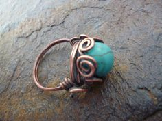 Nested in Swirls Turquoise Howlite Semi by majesticwireartworks, $15.00