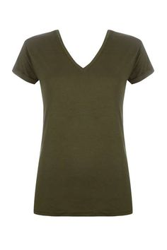 Wallis - basic fitted v-neck t-shirt