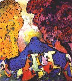 Blue Mountain - Wassily Kandinsky - 1908 - WikiArt