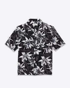 HAWAIIAN ELVIS Palm printed silk shirt by Saint Laurent. -Post...
