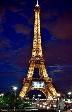 Paris, France...Eiffel Tower at night...where I lost Katelyn one night...but I found her at the French Fry Stand...thank goodness!!