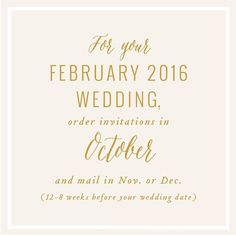 Invitation reminder for september weddings time to get that friendly reminder for february 16 couples time to get your invitation orders in pricing samples and all other details online at alisabobzien stopboris Choice Image