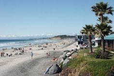 The beach in Del Mar, California.