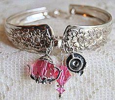 Pink Crystal Tea Time Spoon Bracelet