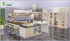 FORM AND FUNCTION kitchen (DONATION) at SIMcredible! Designs 4 via Sims 4 Updates