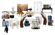 """""""Untitled #587"""" by dreamer4ever ❤ liked on Polyvore featuring interior, interiors, interior design, home, home decor, interior decorating, TemaHome, Williams-Sonoma, Royal Velvet and Universal Lighting and Decor"""