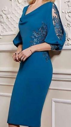 Mother of the bride Simple Dresses, Elegant Dresses, Beautiful Dresses, Nice Dresses, Casual Dresses, Short Dresses, Formal Dresses, Lace Dress Styles, Sleeves Designs For Dresses