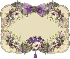 Victorian Floral Themed Tag or Label