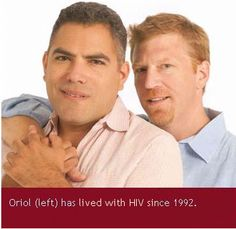 POZ Deputy Editor Oriol (left) has lived with HIV since 1992.