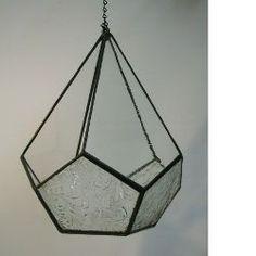 Free Teardrop Terrarium stained glass pattern