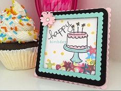 Shakers are all the rage and what's not to love about bling shaking around in a frame? Today I want to share a fun Birthday Easel Shaker that is sure to plea...