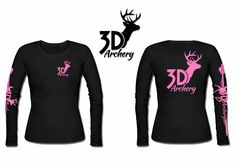 Archery Long Sleeve T shirt bowhunting apparel compound bow hunting shirt women's 3d Archery, Archery Girl, Archery Hunting, Archery Targets, Hunting Gear, Deer Hunting, Archery Clothing, 2nd Amendment T Shirts, Crossbow Hunting