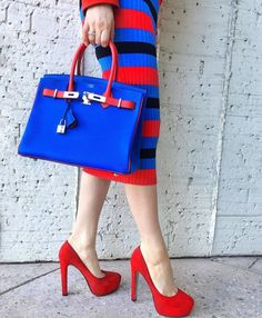 Electric Blue Hermes Birkin bag. http://mzed_luxury_market.boutir.com