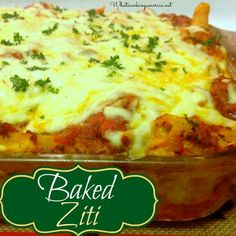 Baked Ziti Recipe  | whatscookingamerica.net  | #baked #ziti #pasta #casserole