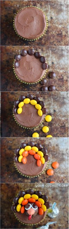 Thanksgiving cupcakes -- Perfect for your holiday parties