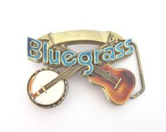 Vintage Bluegrass Belt Buckle Solid Brass by TheWhistlingMan, £20.00