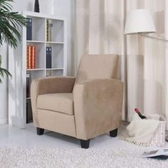 Gold Sparrow Stockton Arm Chair in Khaki - ADC-STO-CHA-CSX-KHA