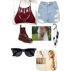 Untitled #31 by nella5200 on Polyvore featuring moda, Topshop, Dr. Martens, Anni Jürgenson, Free People, River Island and Hershesons
