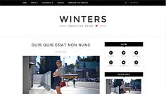 Winters Blogger Template | High Quality Free Blogger Templates