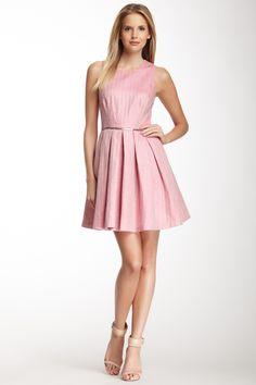 Sleeveless Full Skirt Embroidered Dress