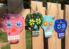 Fused Glass Sugar Skull by PeaceLoveHopeGlass on Etsy, $20.00