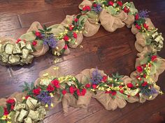 Country Garden door garland  by ChicAffair on Etsy